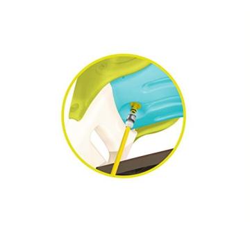 Smoby – KS Rutsche – kompakte Kinderrutsche mit Wasseranschluss, 1,5 Meter lang, mit Rutschauslauf, Verstrebung, Haltegriffen, für Kinder ab 2 Jahren - 3