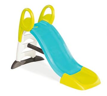 Smoby – KS Rutsche – kompakte Kinderrutsche mit Wasseranschluss, 1,5 Meter lang, mit Rutschauslauf, Verstrebung, Haltegriffen, für Kinder ab 2 Jahren - 1