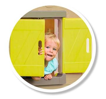 Smoby - Mein Neues Haus - Spielhaus für Kinder für drinnen und draußen, erweiterbar durch Zubehör, Gartenhaus für Jungen und Mädchen ab 2 Jahren - 2