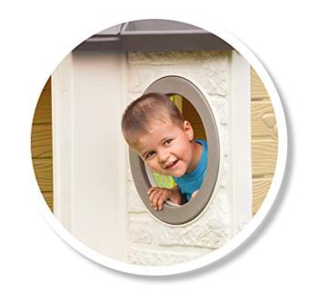 Smoby - Mein Neues Haus - Spielhaus für Kinder für drinnen und draußen, erweiterbar durch Zubehör, Gartenhaus für Jungen und Mädchen ab 2 Jahren - 3