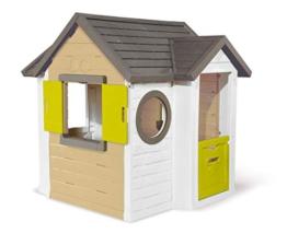 Smoby - Mein Neues Haus - Spielhaus für Kinder für drinnen und draußen, erweiterbar durch Zubehör, Gartenhaus für Jungen und Mädchen ab 2 Jahren - 1