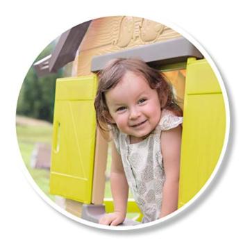 Smoby - Mein Neues Haus - Spielhaus für Kinder für drinnen und draußen, erweiterbar durch Zubehör, Gartenhaus für Jungen und Mädchen ab 2 Jahren - 4