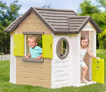Smoby - Mein Neues Haus - Spielhaus für Kinder für drinnen und draußen, erweiterbar durch Zubehör, Gartenhaus für Jungen und Mädchen ab 2 Jahren - 5