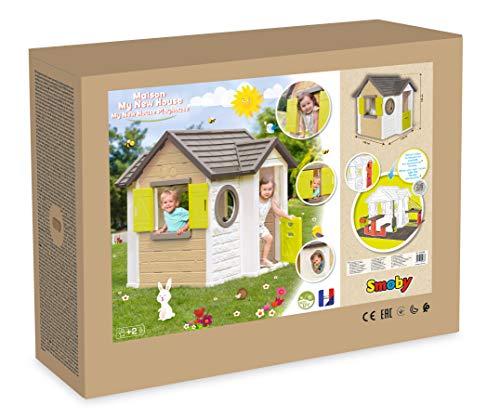 Smoby - Mein Neues Haus - Spielhaus für Kinder für drinnen und draußen, erweiterbar durch Zubehör, Gartenhaus für Jungen und Mädchen ab 2 Jahren - 6