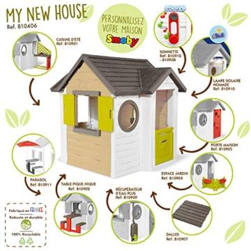 Smoby - Mein Neues Haus - Spielhaus für Kinder für drinnen und draußen, erweiterbar durch Zubehör, Gartenhaus für Jungen und Mädchen ab 2 Jahren - 7