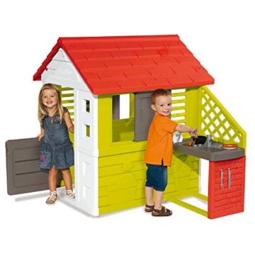 Smoby Nature II Spielhaus für Kinder Casa Nature II mit Küche grün - 2