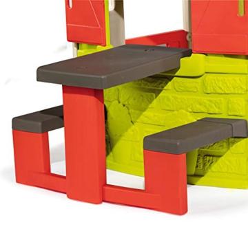Smoby – Picknicktisch für Smoby Spielhäuser – Zubehör für Spielhaus, Sitzbank mit Tisch, passend für die meisten Smoby Spielhäuser - 2
