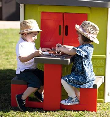 Smoby – Picknicktisch für Smoby Spielhäuser – Zubehör für Spielhaus, Sitzbank mit Tisch, passend für die meisten Smoby Spielhäuser - 3