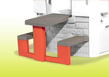 Smoby – Picknicktisch für Smoby Spielhäuser – Zubehör für Spielhaus, Sitzbank mit Tisch, passend für die meisten Smoby Spielhäuser - 4