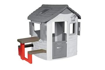 Smoby – Picknicktisch für Smoby Spielhäuser – Zubehör für Spielhaus, Sitzbank mit Tisch, passend für die meisten Smoby Spielhäuser - 1