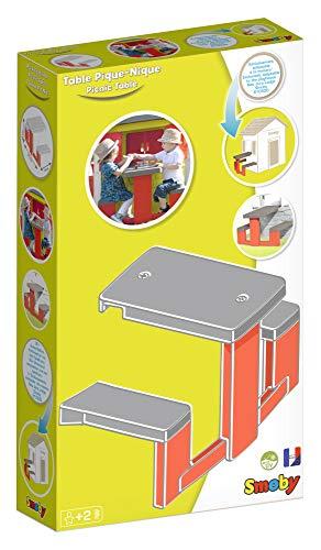 Smoby – Picknicktisch für Smoby Spielhäuser – Zubehör für Spielhaus, Sitzbank mit Tisch, passend für die meisten Smoby Spielhäuser - 5