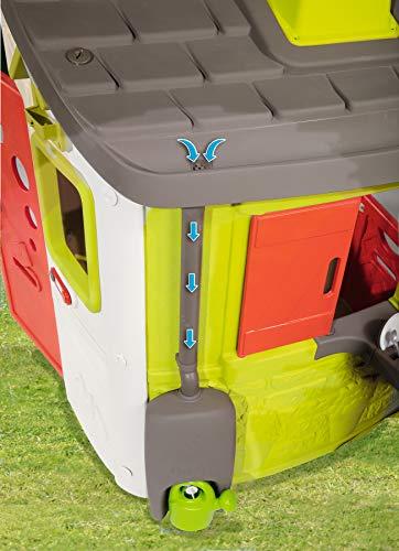 Smoby – Regenfass mit Gießkanne – Zubehör für Smoby Spielhäuse, Sammlung von Regenwasser, mit Regenrinne und Wasserhahn, passend für die meisten Smoby Spielhäuser - 2