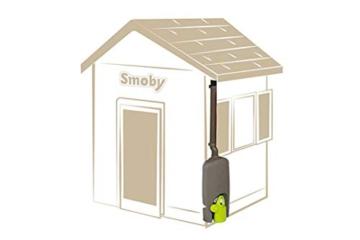 Smoby – Regenfass mit Gießkanne – Zubehör für Smoby Spielhäuse, Sammlung von Regenwasser, mit Regenrinne und Wasserhahn, passend für die meisten Smoby Spielhäuser - 1