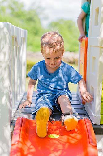 Smoby – Stelzenhaus - Spielhaus mit Rutsche, XL Spiel-Villa auf Stelzen, mit Fenstern, Tür, Veranda, Leiter, für Jungen und Mädchen ab 2 Jahren - 13