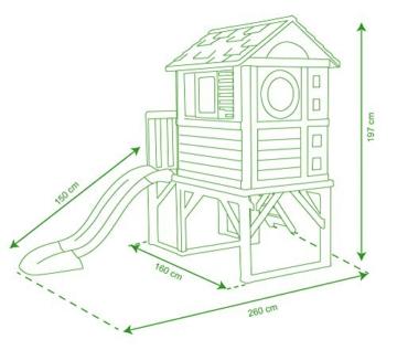 Smoby – Stelzenhaus - Spielhaus mit Rutsche, XL Spiel-Villa auf Stelzen, mit Fenstern, Tür, Veranda, Leiter, für Jungen und Mädchen ab 2 Jahren - 15