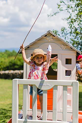 Smoby – Stelzenhaus - Spielhaus mit Rutsche, XL Spiel-Villa auf Stelzen, mit Fenstern, Tür, Veranda, Leiter, für Jungen und Mädchen ab 2 Jahren - 16