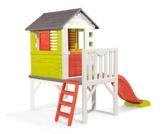 Smoby – Stelzenhaus - Spielhaus mit Rutsche, XL Spiel-Villa auf Stelzen, mit Fenstern, Tür, Veranda, Leiter, für Jungen und Mädchen ab 2 Jahren - 1