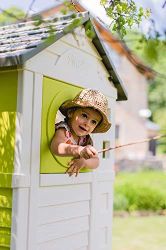 Smoby – Stelzenhaus - Spielhaus mit Rutsche, XL Spiel-Villa auf Stelzen, mit Fenstern, Tür, Veranda, Leiter, für Jungen und Mädchen ab 2 Jahren - 5