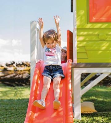 Smoby – Stelzenhaus - Spielhaus mit Rutsche, XL Spiel-Villa auf Stelzen, mit Fenstern, Tür, Veranda, Leiter, für Jungen und Mädchen ab 2 Jahren - 7