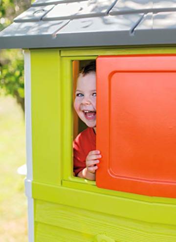 Smoby – Stelzenhaus - Spielhaus mit Rutsche, XL Spiel-Villa auf Stelzen, mit Fenstern, Tür, Veranda, Leiter, für Jungen und Mädchen ab 2 Jahren - 9