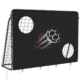 SONGMICS Fußballtor für Kinder, mit Torwand, schnelle Montage, Garten, Park, Strand, Eisenrohre und PE-Netz, schwarz SZQ215B02 - 1