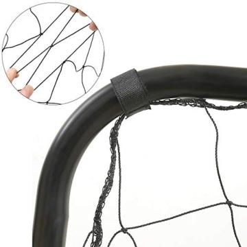 SONGMICS Fußballtor für Kinder, mit Torwand, schnelle Montage, Garten, Park, Strand, Eisenrohre und PE-Netz, schwarz SZQ215B02 - 8