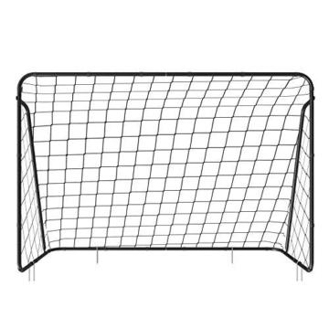 SONGMICS Fußballtor für Kinder, schnelle Montage, Garten, Park, Strand, Eisenrohre und PE-Netz, schwarz SZQ300BK - 7
