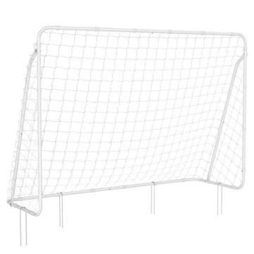 SONGMICS Fußballtor für Kinder, schnelle Montage, Garten, Park, Strand, pulverbeschichtete Rohre und PE-Netz, weiß SZQ215W01 - 1