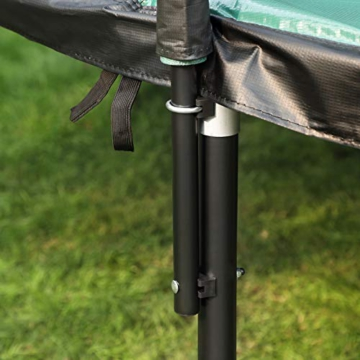 SONGMICS Trampolin 305 cm, rundes Gartentrampolin mit Sicherheitsnetz und Leiter, gepolstertes Gestell, für Kinder und Erwachsene, schwarz-dunkelgrün STR103C01 - 3
