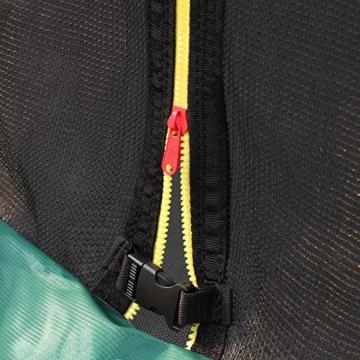 SONGMICS Trampolin 366 cm, rundes Gartentrampolin mit Sicherheitsnetz und Leiter, gepolstertes Gestell, für Kinder und Erwachsene, schwarz-dunkelgrün STR123C01 - 9