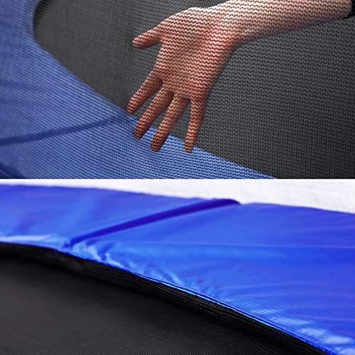 SONGMICS Trampolin Ø 183 cm, rundes Gartentrampolin mit Sicherheitsnetz, mit gepolsterten Stangen, Sicherheitsabdeckung, TÜV Rheinland getestet, sicher, Outdoor, schwarz, blau STR6FT - 3