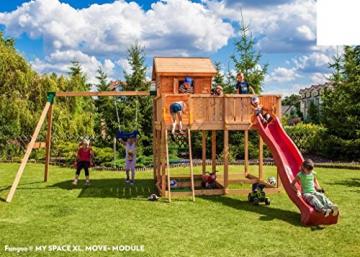 Spielhaus MYSPACE XL -Move- Podesthöhe 145 cm mit 2,90 m Rutsche Doppelschaukel - 1