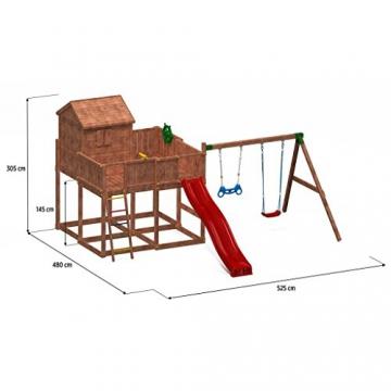 Spielhaus MYSPACE XL -Move- Podesthöhe 145 cm mit 2,90 m Rutsche Doppelschaukel - 2