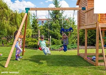 Spielhaus MYSPACE XL -Move- Podesthöhe 145 cm mit 2,90 m Rutsche Doppelschaukel - 4