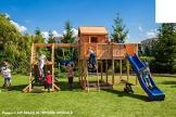 Spielhaus MYSPACE XL -SPIDER- Podesthöhe 125/145 cm 2,90 m Rutsche Schaukel - 1