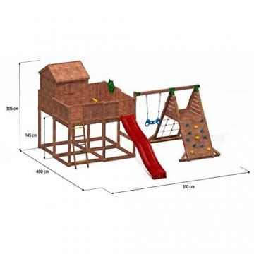 Spielhaus MYSPACE XL -SPIDER- Podesthöhe 125/145 cm 2,90 m Rutsche Schaukel - 4