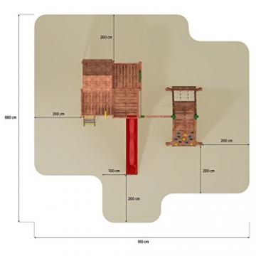 Spielhaus MYSPACE XL -SPIDER- Podesthöhe 125/145 cm 2,90 m Rutsche Schaukel - 5
