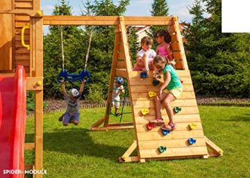 Spielhaus MYSPACE XL -SPIDER- Podesthöhe 125/145 cm 2,90 m Rutsche Schaukel - 6