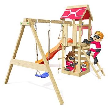 Spielturm Active Heroows Schaukelgestell mit Sandkasten und Kletterwand, Schaukel & Rutsche, viel Zubehör - 2