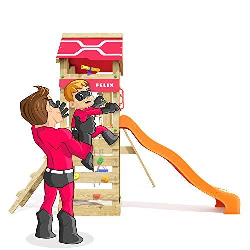 Spielturm Active Heroows Schaukelgestell mit Sandkasten und Kletterwand, Schaukel & Rutsche, viel Zubehör - 4