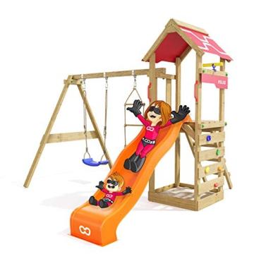 Spielturm Active Heroows Schaukelgestell mit Sandkasten und Kletterwand, Schaukel & Rutsche, viel Zubehör - 5