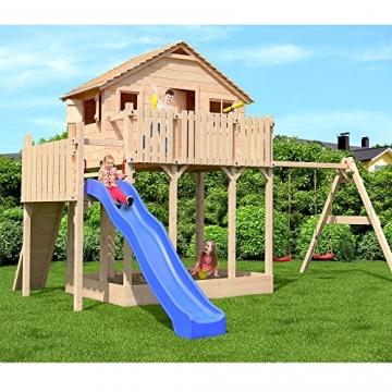 Spielturm baumhaus stelzenhaus spielhaus sandkasten for Gartenpool mit rutsche