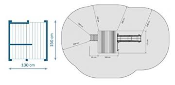 Spielturm Beach Hut - Blue Rabbit 2.0 - Podesthöhe 150cm mit Rutsche 300 cm Pfosten 9x9cm - 4