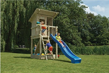 Spielturm Beach Hut - Blue Rabbit 2.0 - Podesthöhe 150cm mit Rutsche 300 cm Pfosten 9x9cm - 1