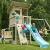 Spielturm Beach Hut - Blue Rabbit 2.0 - Podesthöhe 150cm mit Rutsche 300 cm Pfosten 9x9cm - 6