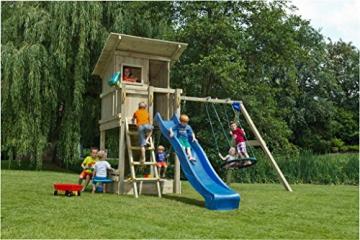 Spielturm Beach Hut - Blue Rabbit 2.0 - Podesthöhe 150cm mit Rutsche 300 cm Pfosten 9x9cm - 7