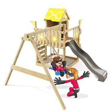 Spielturm Brilliant Heroows Schaukelgestell mit Doppelschaukel und großem Sandkasten, Rutsche und Stelzenhaus - 2