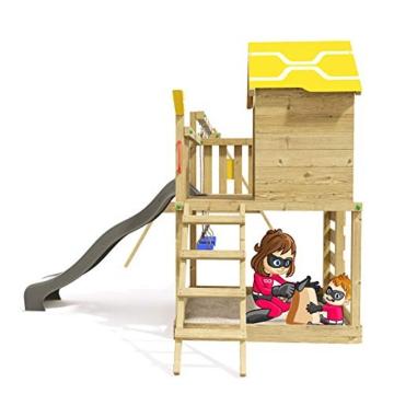 Spielturm Brilliant Heroows Schaukelgestell mit Doppelschaukel und großem Sandkasten, Rutsche und Stelzenhaus - 4
