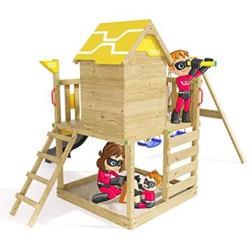 Spielturm Brilliant Heroows Schaukelgestell mit Doppelschaukel und großem Sandkasten, Rutsche und Stelzenhaus - 5