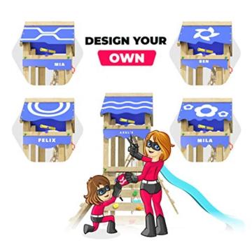 Spielturm Brilliant Heroows Schaukelgestell mit Doppelschaukel und großem Sandkasten, Rutsche und Stelzenhaus - 6
